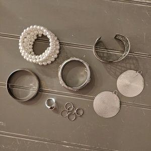 Jewelry bundle! Bracelets rings earrings pearls